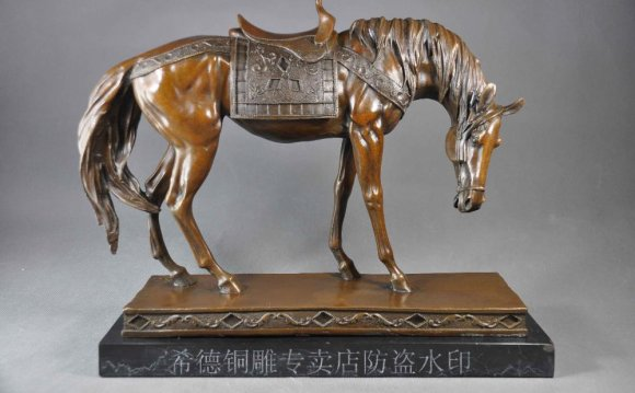 Horse Copper sculpture