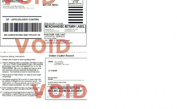 Prepaid Shipping Label