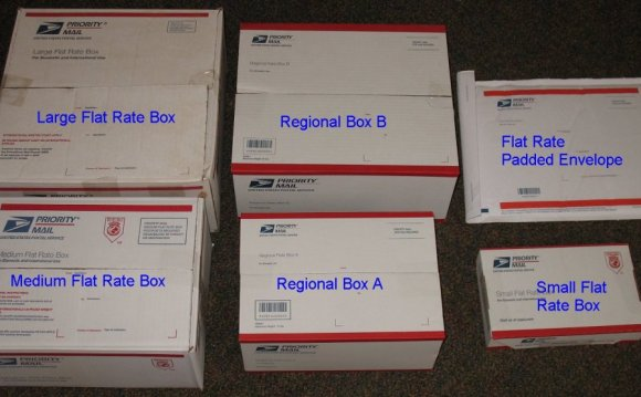 Flat Rate shipping boxes size
