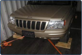 Image of secured vehicle