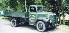 Old Ford Coe Transport Truck