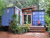 Simple shipping container homes