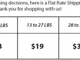 USPS Flat Rate shipping Prices 2014