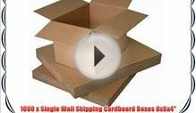 1 x Single Wall Shipping Cardboard Boxes 8x6x4