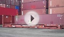 40ft collapsible flat rack shipping container