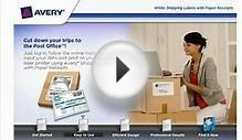 Avery White Shipping Labels with Paper Receipts Demo Video