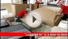 Door-to-door luggage shipping international service from