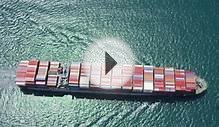 LOS ANGELES JULY 2014 - Aerial Of Container Ship At Sea