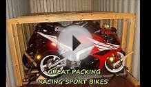 Motorcycle International Shipping | Loading in Containers