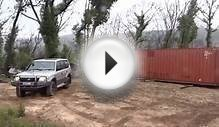 Moving A 40ft Shipping Container With An SUV 8