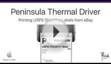 Printing USPS eBay shipping labels with a thermal label