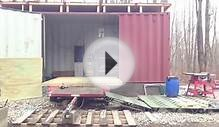 Shipping Container Building a Wall - Time Lapse