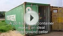 shipping container bunker.
