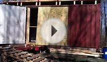 Shipping Container Door Installation Time Lapse
