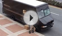 UPS delivery man throwing boxes again