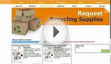 Using a pre-paid shipping label to recycle with